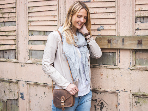 View our  Leather Saddle Bag 7 Inch from the  Leather Satchels & Bags collection