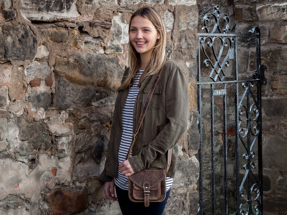 View our  Leather Saddle Bag 7 Inch With Pocket from the  Leather Satchels & Bags collection
