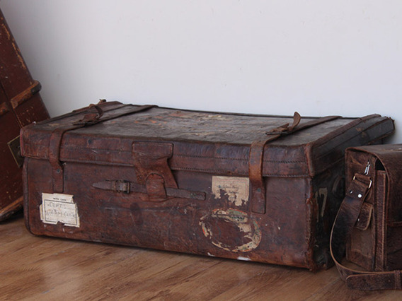Leather Travel Trunk TLNM45140