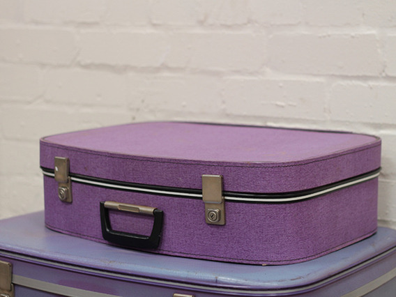View our  Lilac Coloured Retro Vintage Suitcase from the   collection