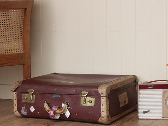 View our  Maroon Vintage Suitcase from the  Vintage Suitcases collection