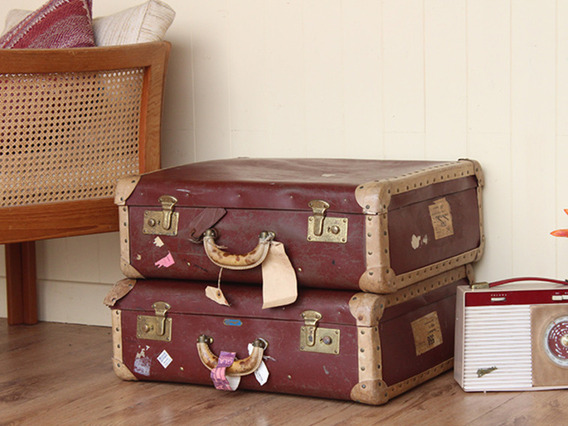 View our Women Maroon Vintage Suitcase (C) from the Women Sold collection