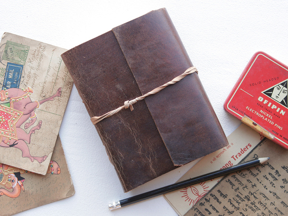View our  Medium Leather Bound Journal from the   collection