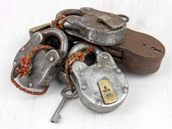 View our  Medium Old Iron Padlock from the   collection
