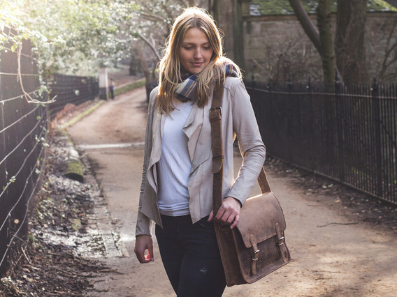 View our  Medium Vintage Leather Satchel 15 Inch from the  Leather Satchels & Bags collection