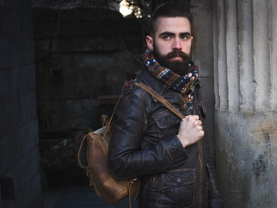 View our Men Mens Leather Backpack Mini from the Men Leather Backpacks collection