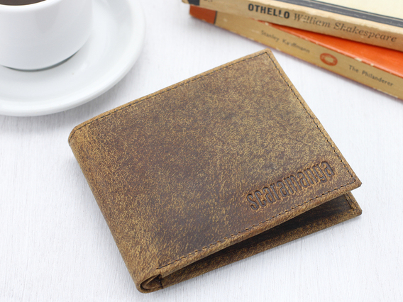 View our  Mens Leather Wallet from the  Wedding Gifts & Decor collection