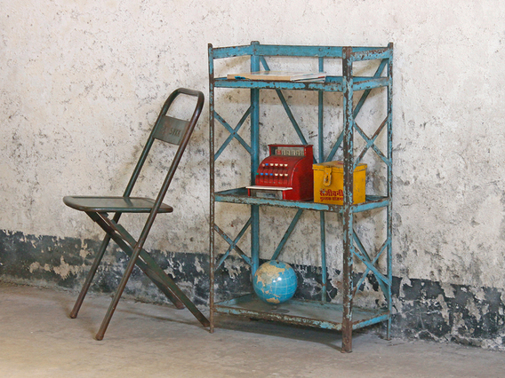 View our  Vintage Metal Shelving Rack from the   collection