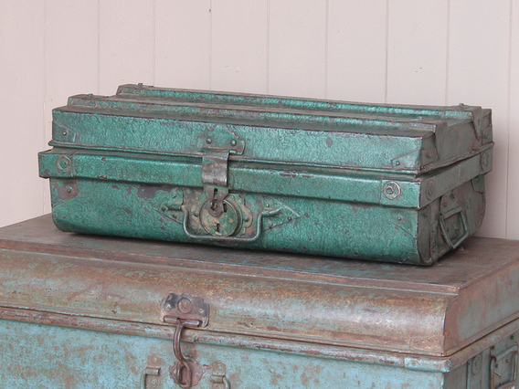 View our  Metal Travel Suitcase from the  Old Travel Trunks collection