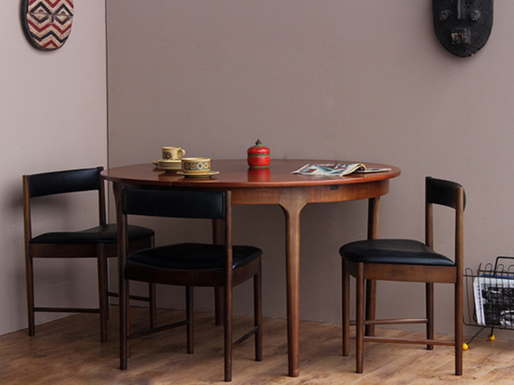 View our  Mid-Century Dining Table by McIntosh and 4 chairs from the   collection
