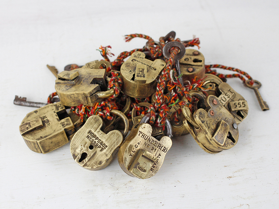 View our  Mini Old Brass Padlock from the   collection