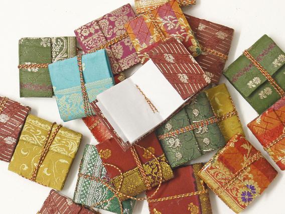 Mini Silky Sari Notebook
