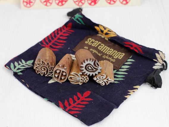 Mini Wooden Printing Block Gift Set