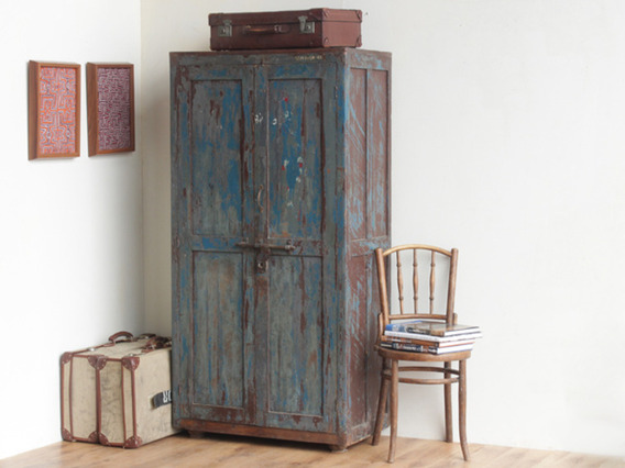 View our  Old Blue Cupboard from the  Vintage Cabinets & Cupboards collection