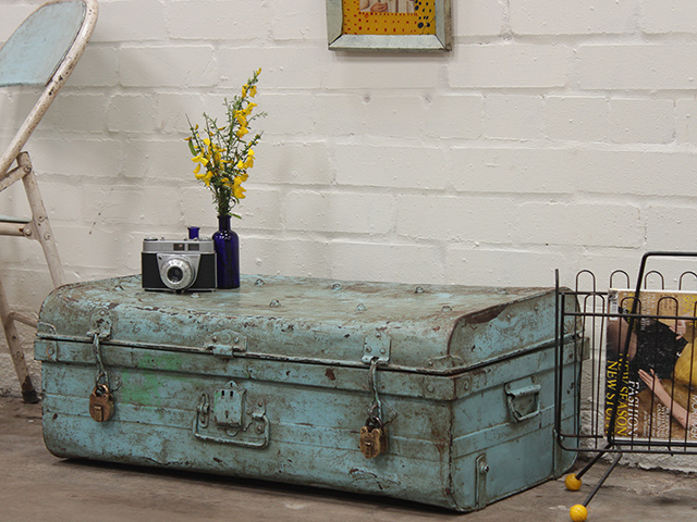 View our  Old Blue Metal Case from the   collection
