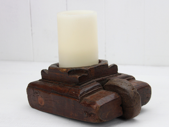 View our  Old Candle Holder from the  Vintage Wooden Candlesticks collection