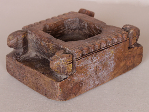 View our  Old Carved Tikka Pot from the  Vintage Wooden Pots collection