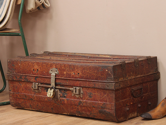 View our  Old Disressed Metal Travel Suitcase from the   collection