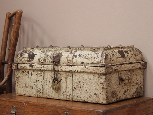 View our  Old Distressed Metal Suitcase from the   collection