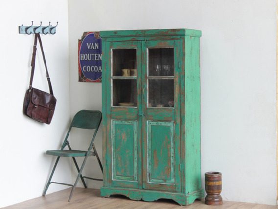 View our  Old Green Armoire CABS30232 from the  Vintage Cabinets & Cupboards collection
