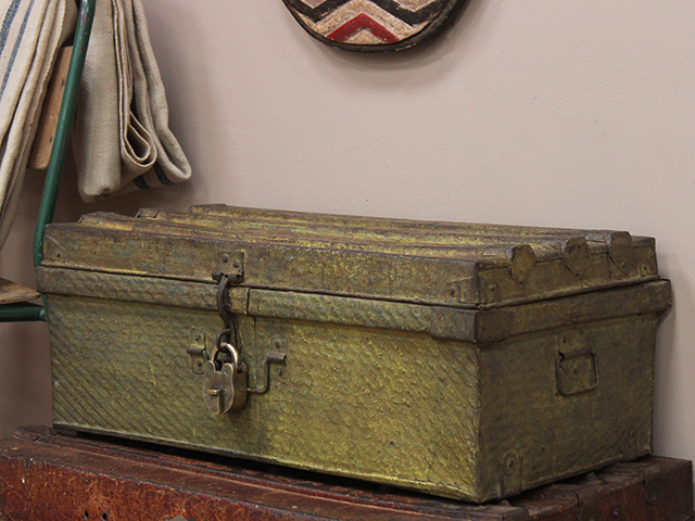 Old Green Travel Trunk