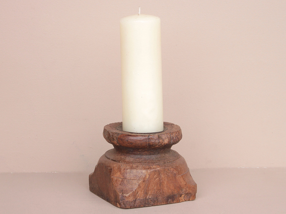 View our  Old Handcarved Candle Holder from the  Vintage Wooden Candlesticks collection