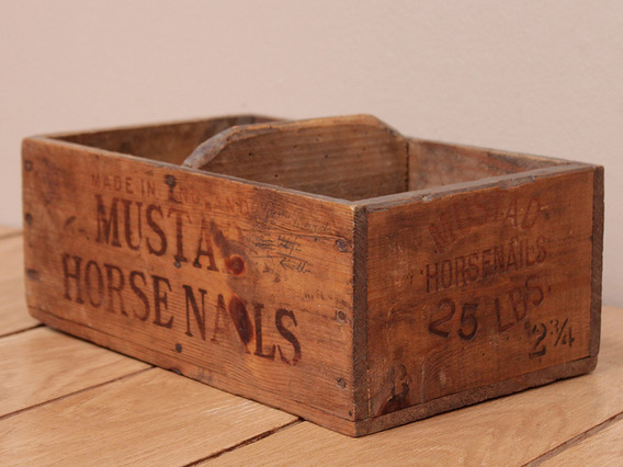 View our  Old Horse Shoe Nail Box from the   collection