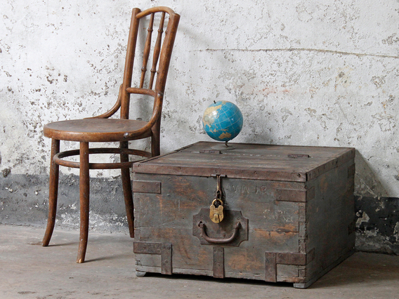 View our  Old Military Chest from the  Vintage Tables & Desks collection