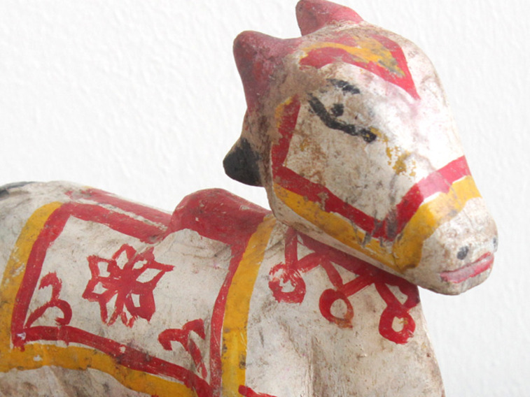 View our  Old Painted Cow from the  Vintage Wooden Pots collection