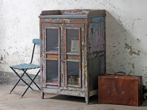 View our  Old Teak and Glass Display Cabinet from the  For The Home collection