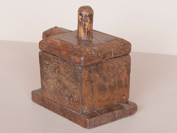 View our  Old Tikka Box Pot from the  Vintage Wooden Pots collection
