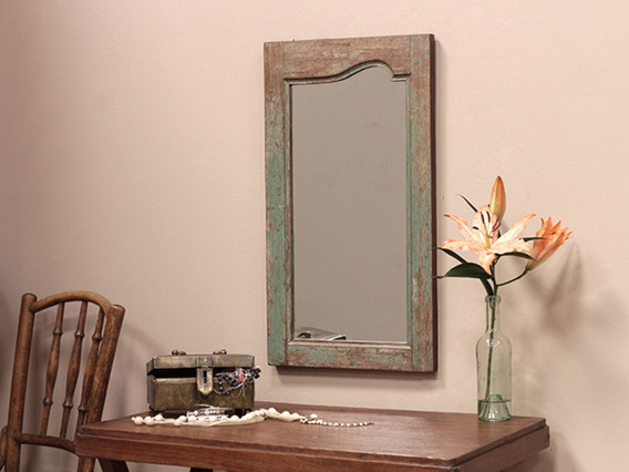 Old Wooden Framed Mirror (C)