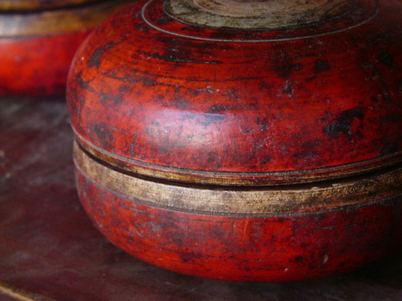Old Wooden Pot