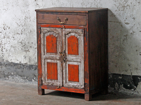View our  Orange Vintage Cupboard from the  Sold collection