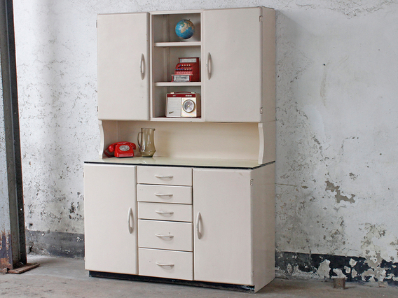 View our  Original Retro 1950s Kitchen Larder Cupboard from the  Vintage Cabinets & Storage Cupboards collection