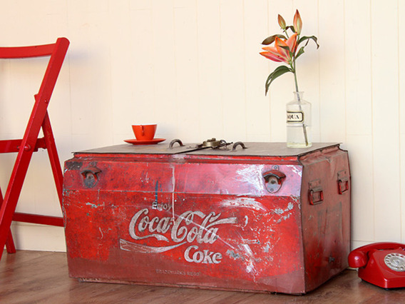 View our  Original Vintage Coca Cola Coolbox from the  Old Travel Trunks collection