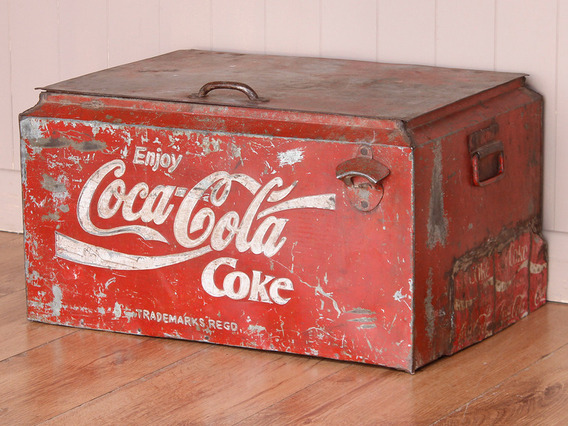 View our Women Original Vintage Coca Cola Coolbox from the Women Sold collection