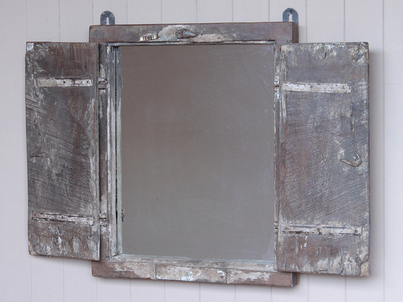 View our Painted Shutter-Mirror from the Shabby Chic Bedroom Furniture collection