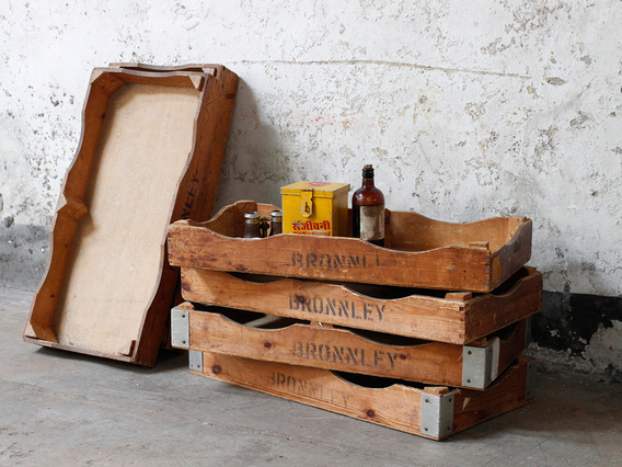 View our  Pair of Vintage Industrial Soap Tray Racks from the  Upcycled collection