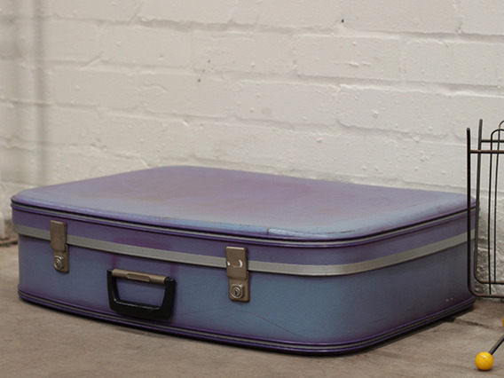 View our  Purple Coloured Retro Suitcase from the   collection