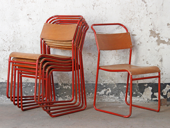 Red Stacking Chair by Remploy