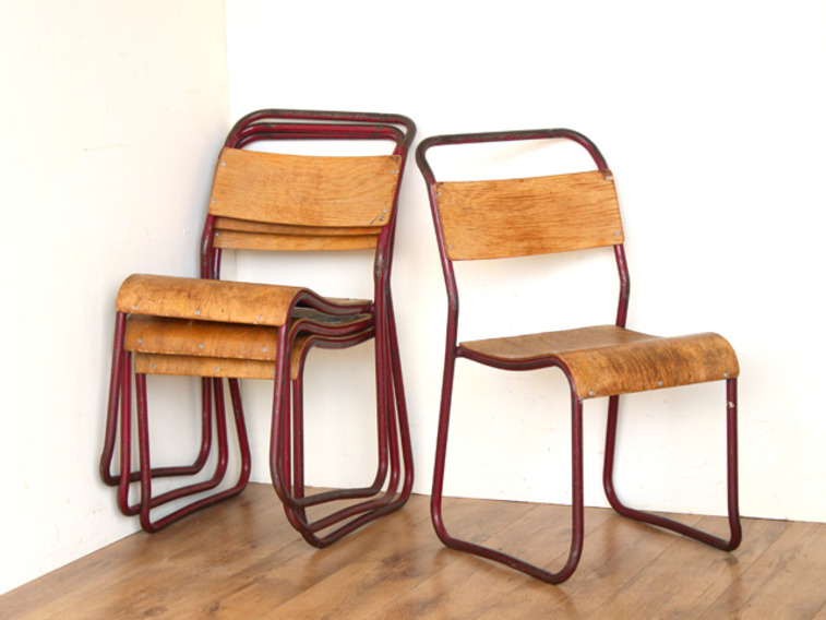 View our  Red Vintage Stacking Chairs (Price Per Pair) from the   collection