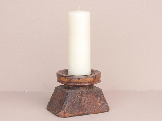 View our  Repurposed Candle Holder from the  Vintage Wooden Pots collection
