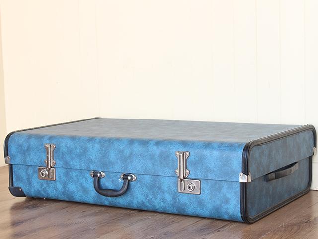 Retro Blue Suitcase