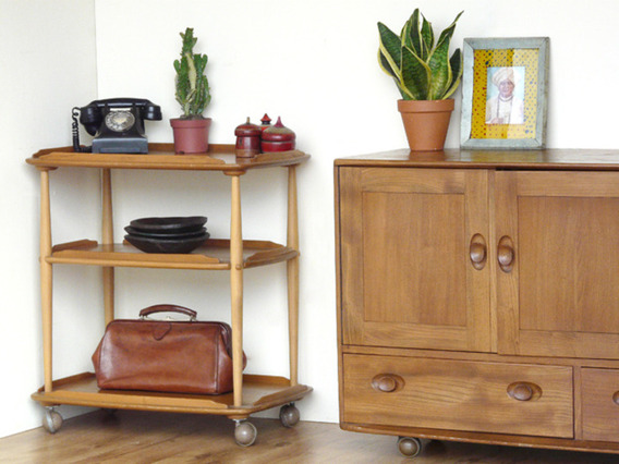 View our  Retro Elm Ercol Trolley from the   collection