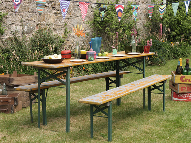 View our  Retro Oktoberfest Fold-Down Table And Benches from the   collection