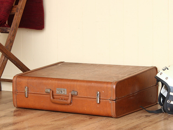 View our  Retro Vintage Travel Suitcase (C) from the   collection
