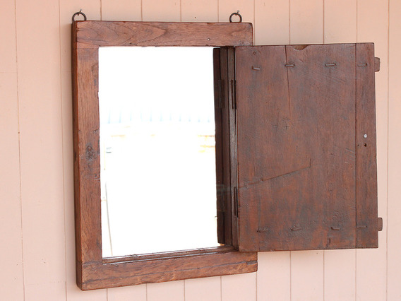 View our  Rustic Shutter Mirror from the  Gifts For The Home collection