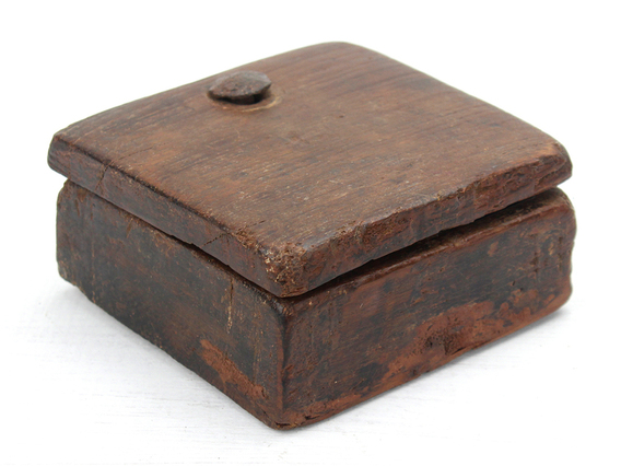 View our  Rustic Square Spice Box from the  Vintage Wooden Pots collection