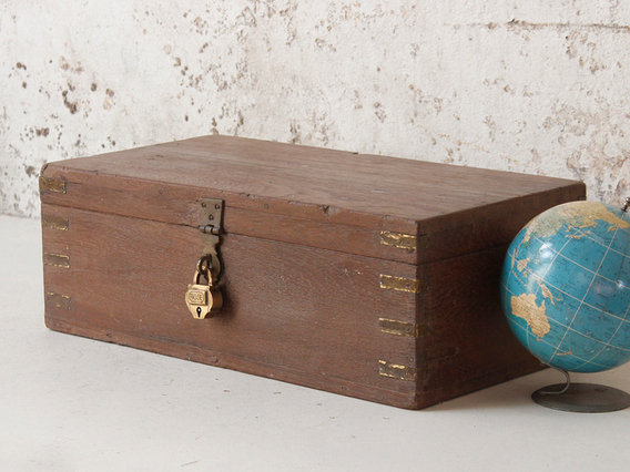 View our  Samll Wooden Box from the  Old Wooden Chests, Trunks & Boxes collection